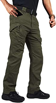 MAGCOMSEN Men's Outdoor Cargo Work Pants with 9 Pockets Cotton Tactical Hiking Pants