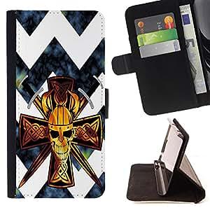 King Case - FOR HTC One M7 - Will is power - Prima caja de la PU billetera de cuero con ranuras para tarjetas, efectivo Compartimiento desmontable y correa para la mu?eca