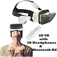 3D VR Glasses/Headset, Tsanglight Virtual Reality Headset with 3D Headphones & Remote for Android Samsung Galaxy S7 Edge/S7/S6/A5/A3 2016, IOS iPhone 7/7 Plus/6/6S Plus & Other 4.7-6.2 Cellphones