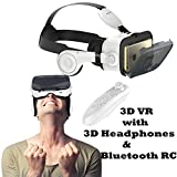 3D VR Headset Glasses, Tsanglight Virtual Reality Headset with 3D Headphones & Remote for Android Samsung Galaxy S7 Edge/S7/S6/A5/A3 2016, IOS iPhone 7/7 Plus/6/6S Plus & Other 4.7-6.2'' Cellphones