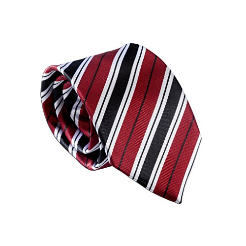 Boys Beautiful Red Stripe Tie, Youth 45 inch