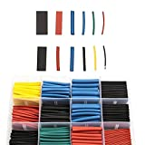 Heat Shrink Tubing-Length Heat Shrink KIT with 560 pcs 2:1 Heat Shrink Tube 5 Colors 12 Sizes,for Electrical Insulation, Wire Bundling, Colour Coding etc.