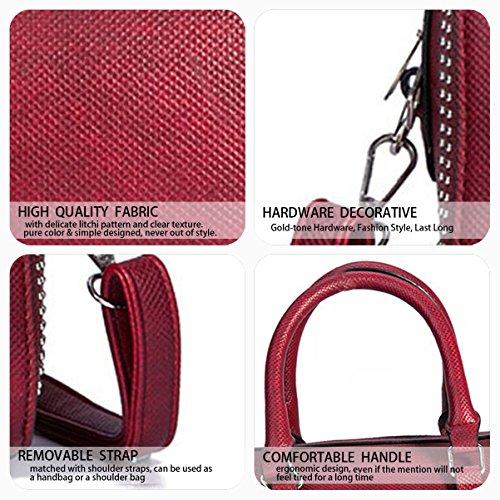 menotte Sacs Femme Sacs Sacs Sacs Sacs bandoulière Jaune Rouge cartables épaule DEERWORD main portés portés Vineux vgqAwPw5
