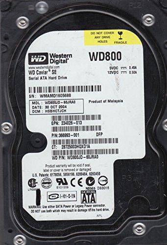 WD800JD-60JRA0 Western Digital 80GB 7200RPM SATA 1.5 Gbps 3.5 inch Caviar Hard Drive (1.5 Gbps Hard Drive)