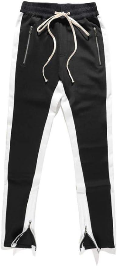 Loeay Pantalones Deportivos para Hombre Pantalones de chándal para Correr Cintura elástica Bolsillos con Cremallera Apertura Ajustable del Tobillo ...