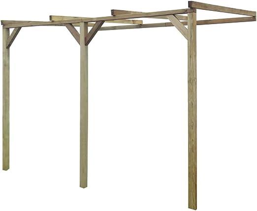 Pérgola de Madera para Pared, 2 x 3 x 2, 2 m Estructuras de ...