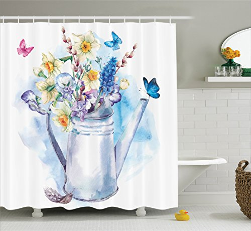 Ambesonne Puss Willows Butterflies Old Fashion Accessories