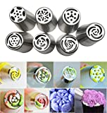 JJMG Russian Tulip Tips Stainless Steel Icing Piping Nozzles Pastry ...