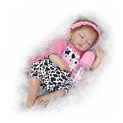 ce90cdb0c9be NPKDOLL Reborn Baby Doll Soft Simulation Silicone Vinyl Cloth Body 18 inch  45 cm Magnetic Mouth