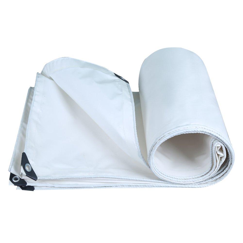 PENGFEI オーニング 屋外 防水 園芸 日焼け止め 布 防風 防塵の 耐摩耗性 抗酸化、 厚さ0.35mm、 350g / m 2、 11サイズのオプション ( 色 : 白 , サイズ さいず : 4x8M ) B07BNQHMHQ 4x8M|白 白 4x8M