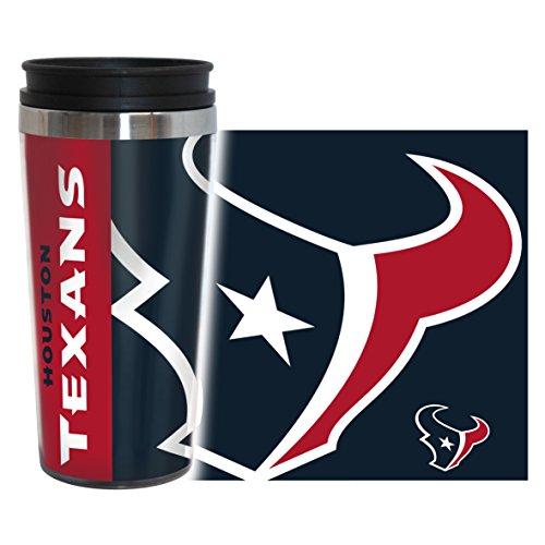 NFL Houston Texans Hype Travel Tumbler, 16-ounce, Blue - Houston Texans Tumbler