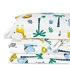 史低价:Bedsure 儿童床品5件套,小清新动物园图案 4折 $16收