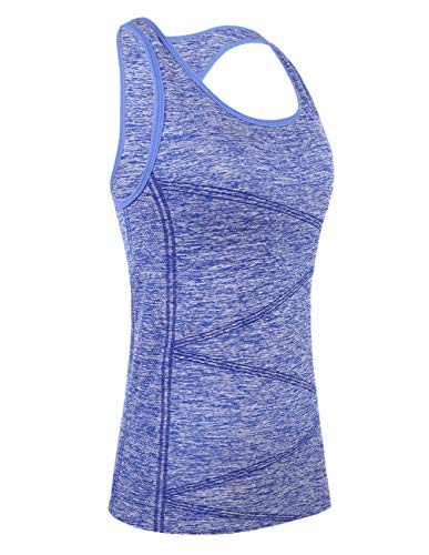 Gilet maniche With Athletic senza For Women T sportivo Stitching shirt senza maniche Sapphire rgxqOrwpE