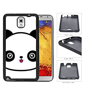 Cute Panda Face Anime Rubber Silicone TPU Cell Phone Case Samsung Galaxy Note 3 III N9000 N9002 N9005