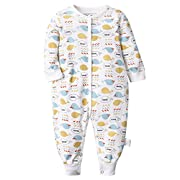 Kidsform Unisex Infant Baby Cotton Rompers Footless Coverall Bodysuits Jumpsuit 3-24M car 3-6M