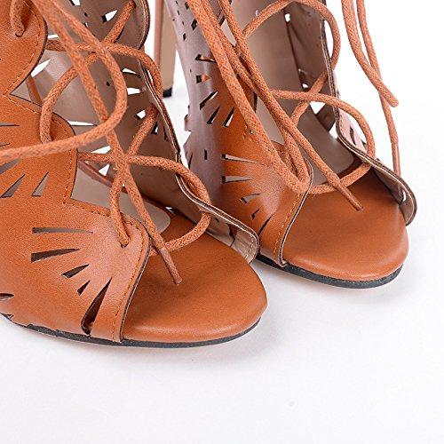 ZHZNVX i scarpe 39 nero sexy la alti polpo belle primavera moda tacchi in con scarpe esposti montaggio donne con Scarpe romane ErqwRr