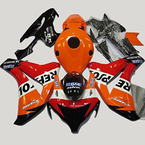 ABS Injection Molding - Orange & Black Fairing Kit for Honda CBR 1000 RR 2008 2009 2010 2011