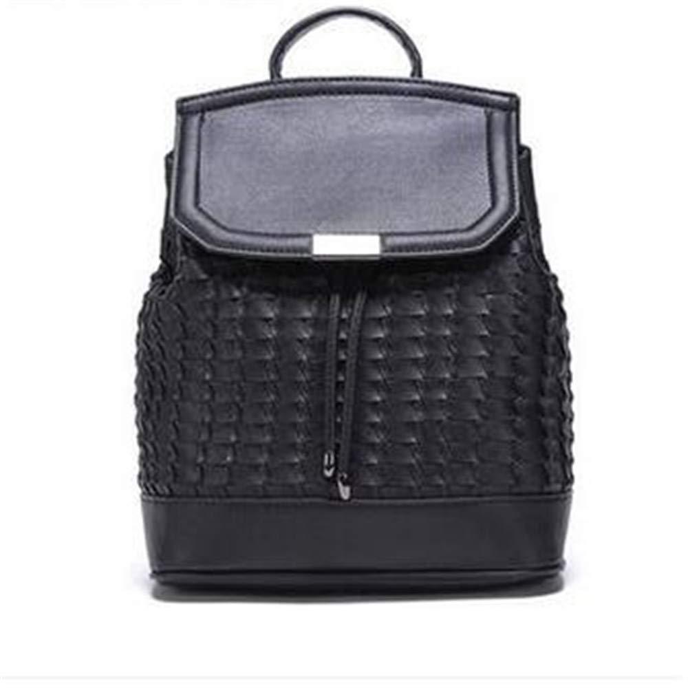 LIZHONG-SLT Fashion Trend Woven Weave Women's Bag Leisure Shoulder Bag,Black,(Width 26cm Thickness 13cm high 32cm)