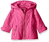 London Fog Baby Girls' Infant Midweight Multi Quilted Barn Jacket, Fuchsia, 24M