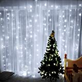 Curtain Lights, Image 224 LED 117.6 in 79.2 in LED Lights String Fairy String Lights for Garden/Wedding/Party/Window/Home Decorative - Pure White