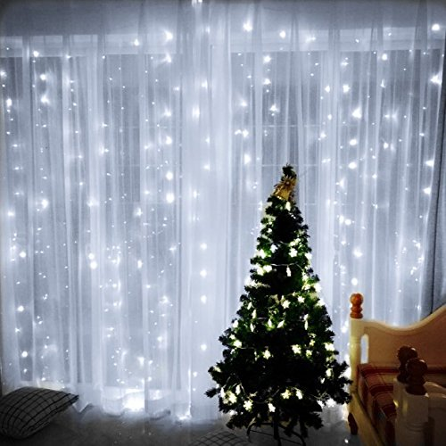 Curtain Lights, Image 224 LED 117.6 in 79.2 in LED Lights String Fairy String Lights for Garden/Wedding/Party/Window/Home Decorative - Pure White by Unknown (Image #10)