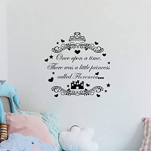 Personalised Once Upon A Time Quote,Wall Art Boys Bedroom Sticker