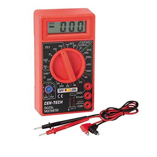 Volt Voltmeter - Cen-Tech Digital Amp Ohm Volt Meter Ac Dc Voltmeter Multimeter,Red