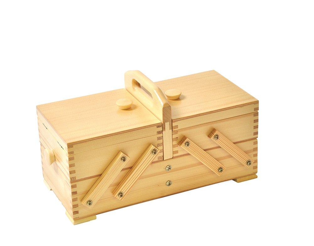 Aumuller Korbwaren AUMUL-Scatola da cucito, in legno di pino, con luce uk home 35/260