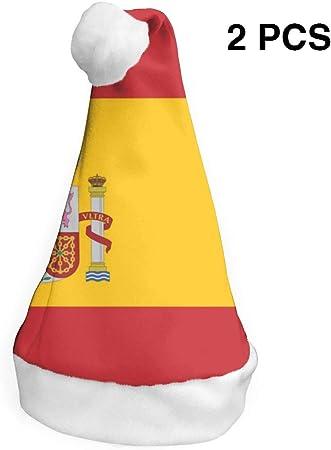 Cainy Bandera De España Sombrero De Navidad, Sombrero Divertido Novedad Sombrero De Santa Niños Y Adultos S: Amazon.es: Hogar