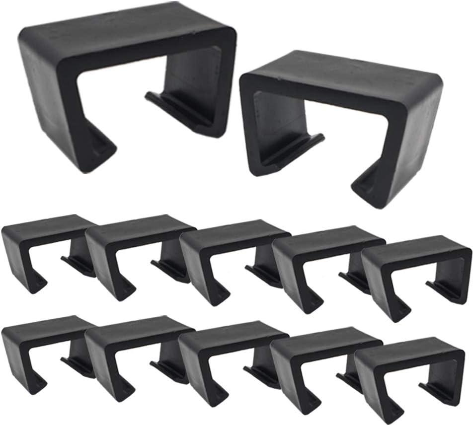 AWEELON 12Pcs Medium Size Patio Furniture Wicker Clips Sectional Sofa Rattan Chair Fasteners