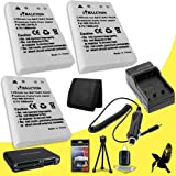 Three Halcyon 1500 mAH Lithium Ion Replacement EN-EL5 Batteries and Charger Kit + Memory Card Wallet + SDHC Card USB Reader + Deluxe Starter Kit for Nikon COOLPIX P530 Digital Camera and Nikon EN-EL5