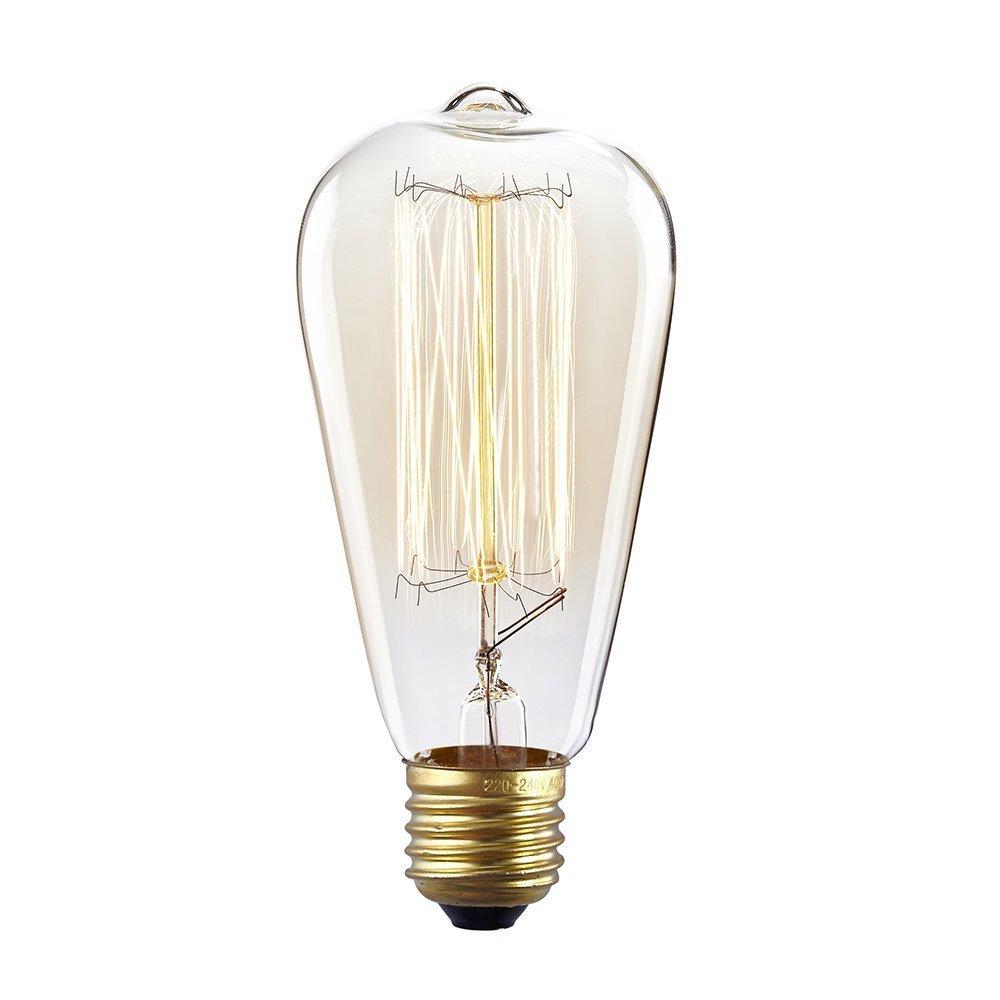 fsliving Vintage 60/W edison filamento E26/Base dimmerabile lampadine a incandescenza