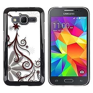 iKiki Tech / Estuche rígido - Design Floral White - Samsung Galaxy Core Prime SM-G360