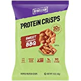 POPCORNERS Our Little Rebellion Protein Crisps, Sweet & Smokey BBQ Popped Protein Chips, Gluten Free, Non-GMO, 5oz Bags (Pack of 12)