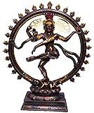BRK HANDICRAFT Bronze Nataraja Statue (18 inch, Antique Brown)