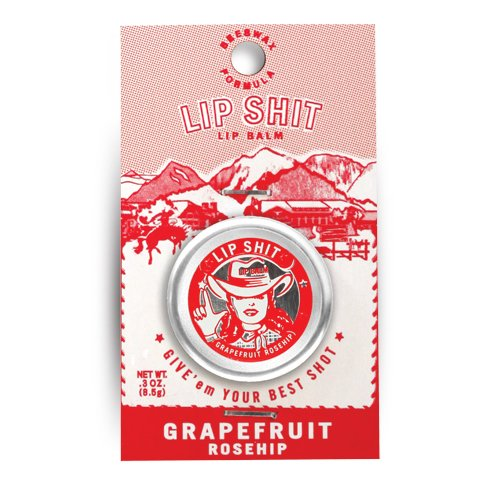 (Blue Q Lip Shit Lip Balm Grapefruit)