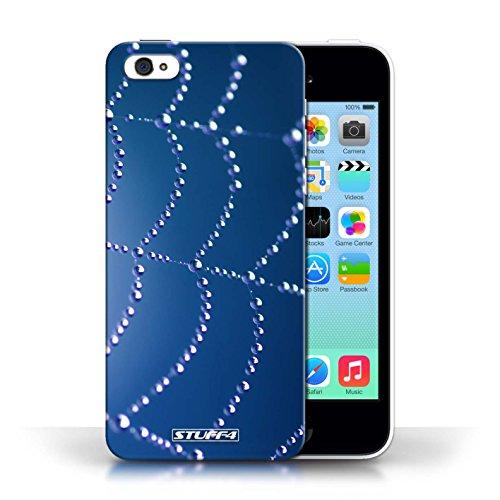 Etui pour Apple iPhone 5C / Bleu conception / Collection de Toile d'araignée Perles