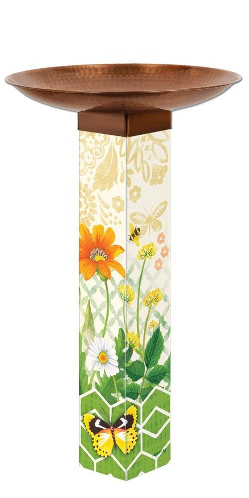 Studio M BB1005 Daisy Garden Bird Bath Art Pole