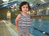 Konfidence Floatsuit, Navy Breton, 4-5 Years