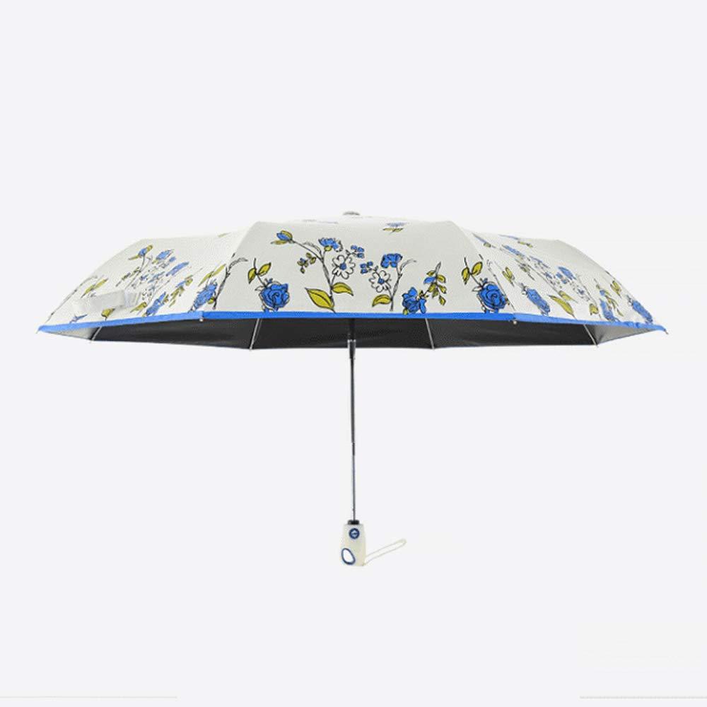 Bleu Parapluie Pliant Automatique Fleur de Cerisier-Donner Une Vague de Rencontres