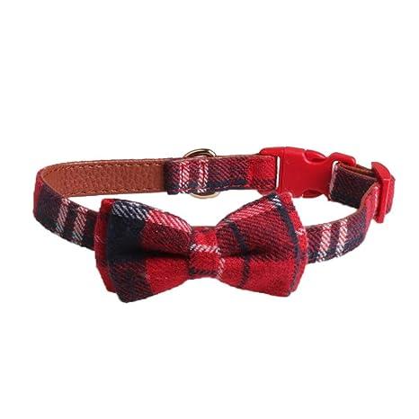 per Collares para Perros y Gatos Collar para Mascotas Pequeños Correas Decorativos con Lazos Lindos para