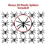 Spider Web Stretchy Fake Webs Halloween Decorations – Covers 850 Sq. Ft - With 20 Plastic Spiders