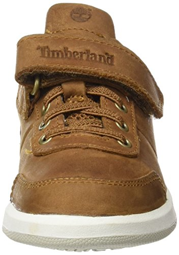 Timberland Unisex Baby Court Side Oxford W/Straptrail Saddleback Full Grain Lauflernschuhe Grün (Trail Saddleback Full Grain)