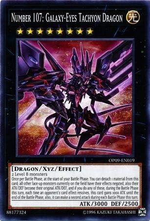 Yugioh Number 107: Galaxy-Eyes Tachyon Dragon Common OP09-EN019