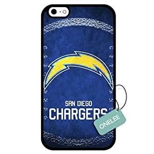 (TCustomized NFL San Diego Chargers Team Logo Design PC Case For HTC One M8 Cover Case CovBlack 01