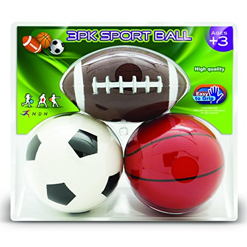 NDN LINE Set of 3 Rubber Sports Playground Balls 5