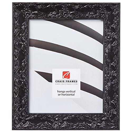 (Craig Frames Renaissance, Obsidian Black Picture Frame, 8 by 10-Inch)