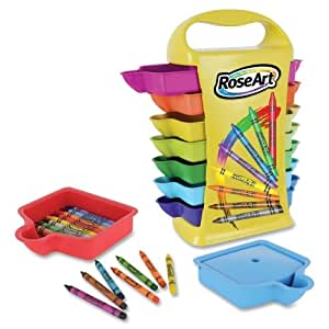 Wholesale CASE of 5 - Rose Art Ind. 14-Drawer Crayon Caddy-Crayon Caddy, Classpack, 208PC/BX, Multi Color