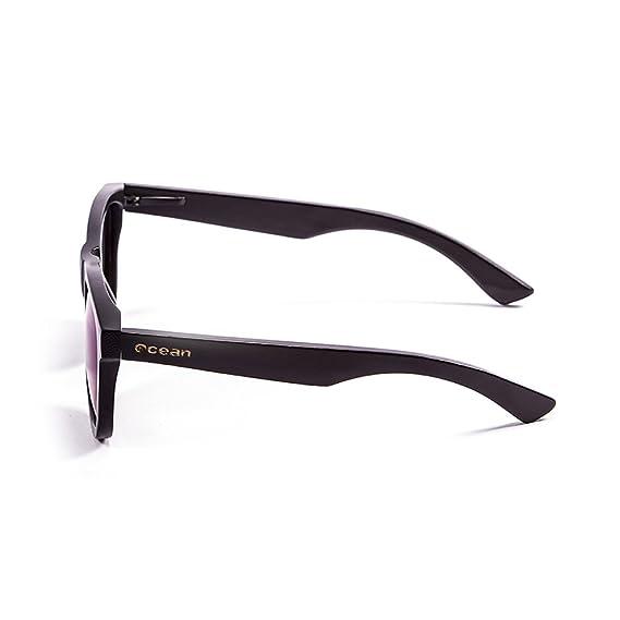 OCEAN SUNGLASSES wood Victoria - lunettes de soleil polarisÃBlackrolles en Bambou - Monture : Noir - Verres : Revo Bleu (53001.0) wUvULf