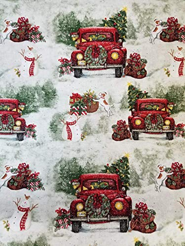 Cheap Christmas Red Pickup Truck Tree Country 16″ Valance